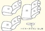 200系グランドキャビン/GL (H17/1〜H24/4) 1〜2列目用 セット内容イメージ図