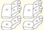 200系グランドキャビン (H17/1〜H24/4) 3〜4列目用 セット内容イメージ図