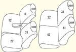 JG1/JG2用(運転席シートリフター有無により商品異なります) セット内容イメージ図
