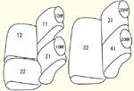 JC1〜2(1列目肘掛け非装備車)用 セット内容イメージ図