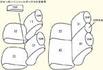 2列目中央肘掛け無し用 セット内容イメージ図