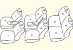 GB3/GB4 8人乗り[H20/5〜H23/10]用 セット内容イメージ図