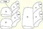 K12系後期(H19/6〜)2列目背もたれ左右分割型用 セット内容イメージ図