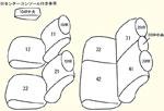 GP5/GP6 2列目中央肘掛け無し用 セット内容イメージ図