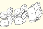 RK1/2前期[H21/10〜H24/3] タンブルシート【2列目スライドレール無し】用 セット内容イメージ図