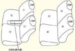 1列目ベンチシート/肘掛けの小物入れ有り用 セット内容イメージ図